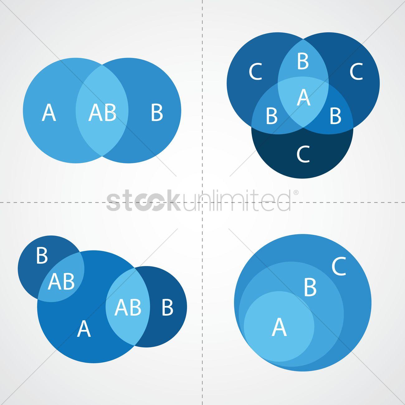 1300x1300 Venn Diagram Infographic Vector Image