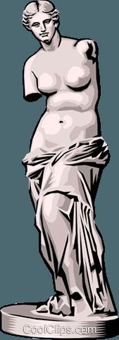 169x480 Statue Of Venus De Milo Royalty Free Vector Clip Art Illustration