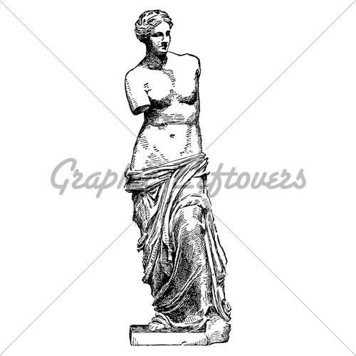 500x500 Vector Venus De Milo Sketch Gl Stock Images