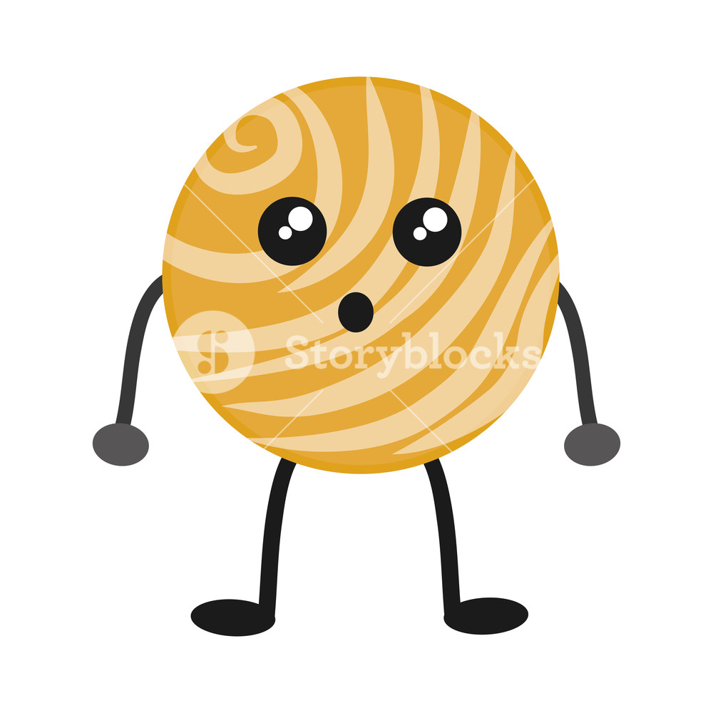 1000x1000 Kawaii Venus Planet Icon Over White Background Vector Illustration