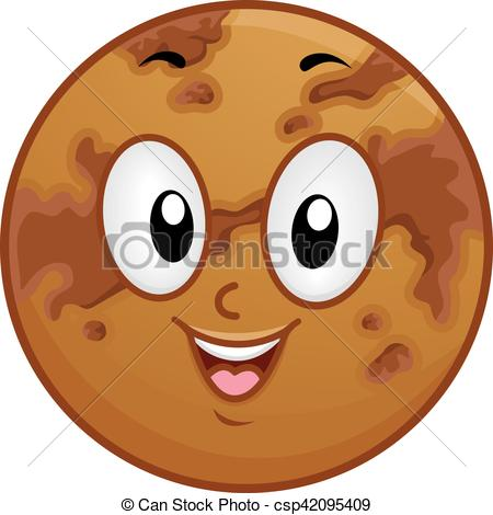 450x470 Mascot Planet Venus Dark Spots. Illustration Of A Venus Mascot