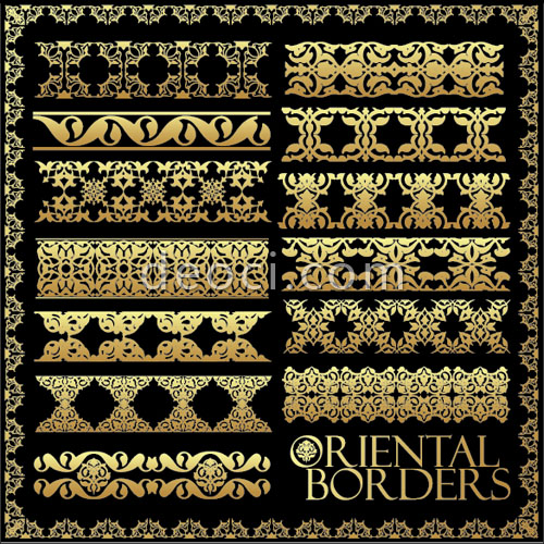 500x500 Vector Ornate Traditional Patterns Of Borders Material Eps Files