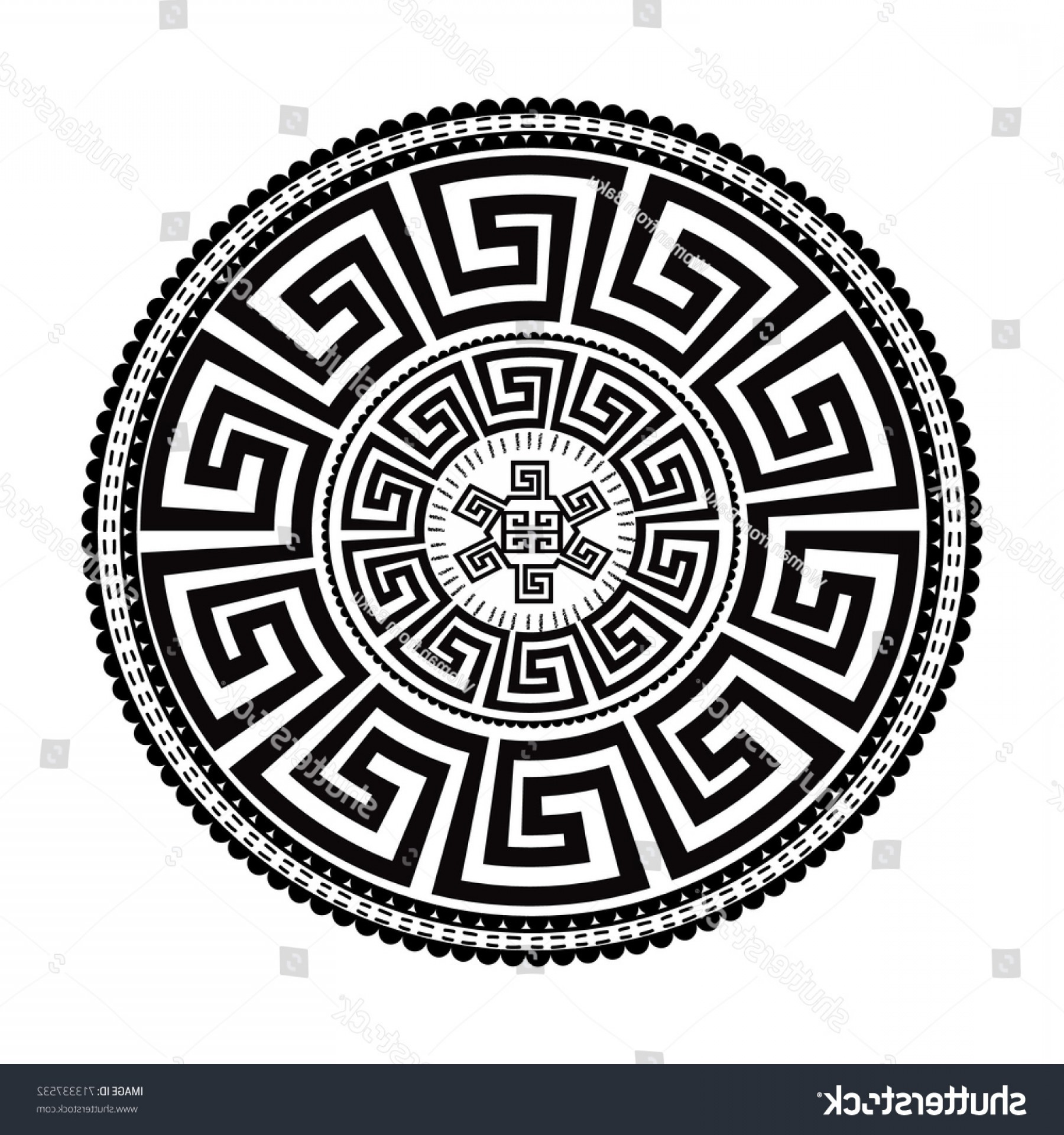 1800x1920 Ancient Round Ornament Vector Isolated Black Shopatcloth