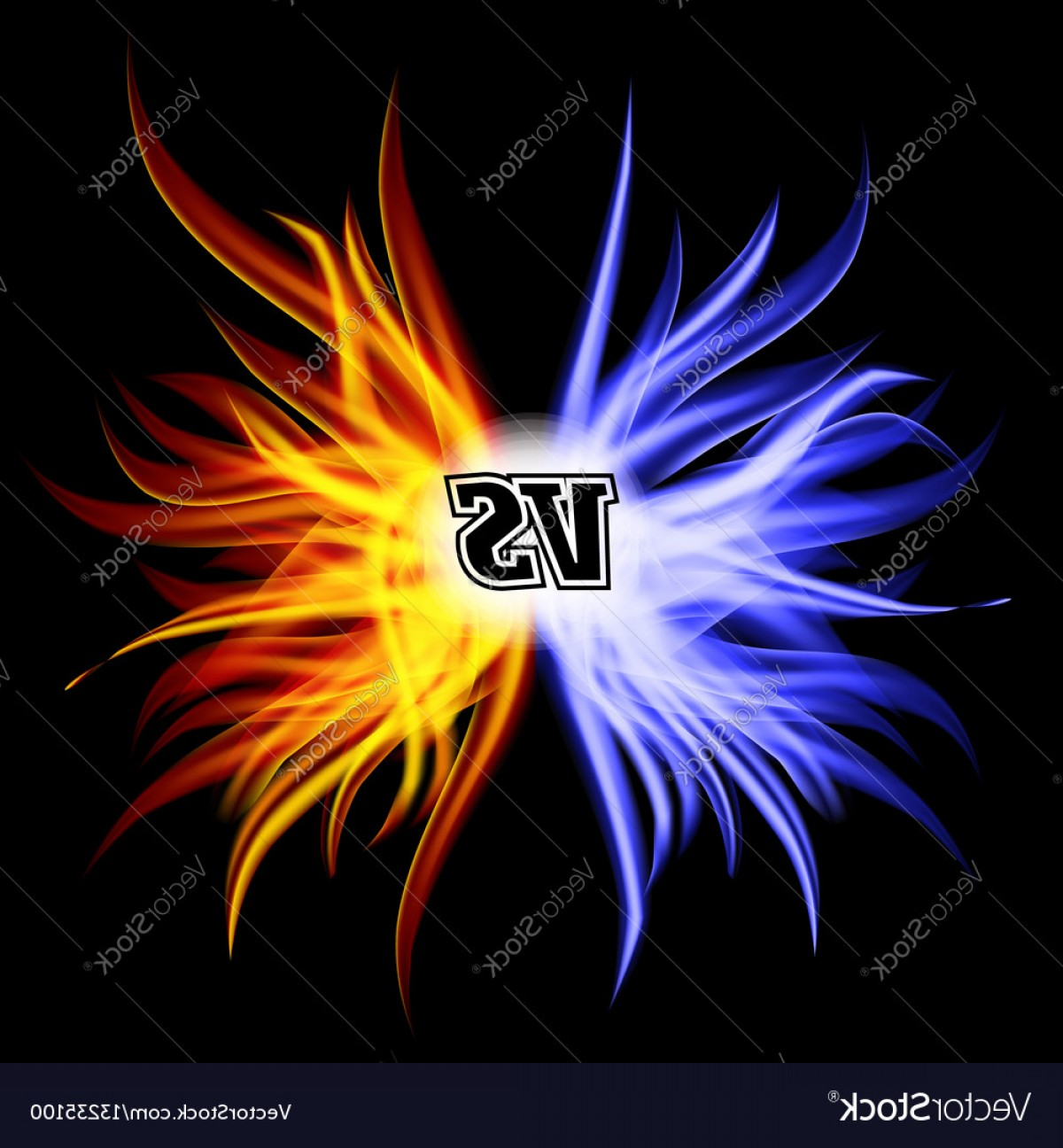 1200x1296 Versus Vector Vs Letters Flame Fight Background Design Competition