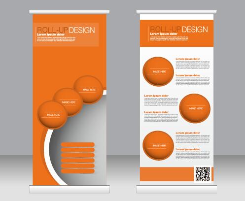 497x408 Exhibition Advertising Vertical Banner Vectors Set 20 Free Download