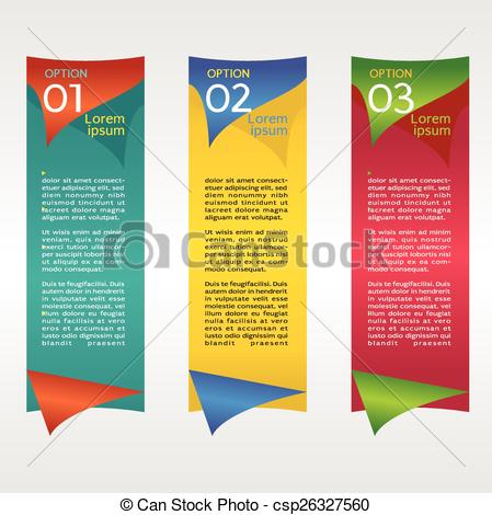 449x470 Vertical Banner Vector With Number. Vertical Banner Vector With