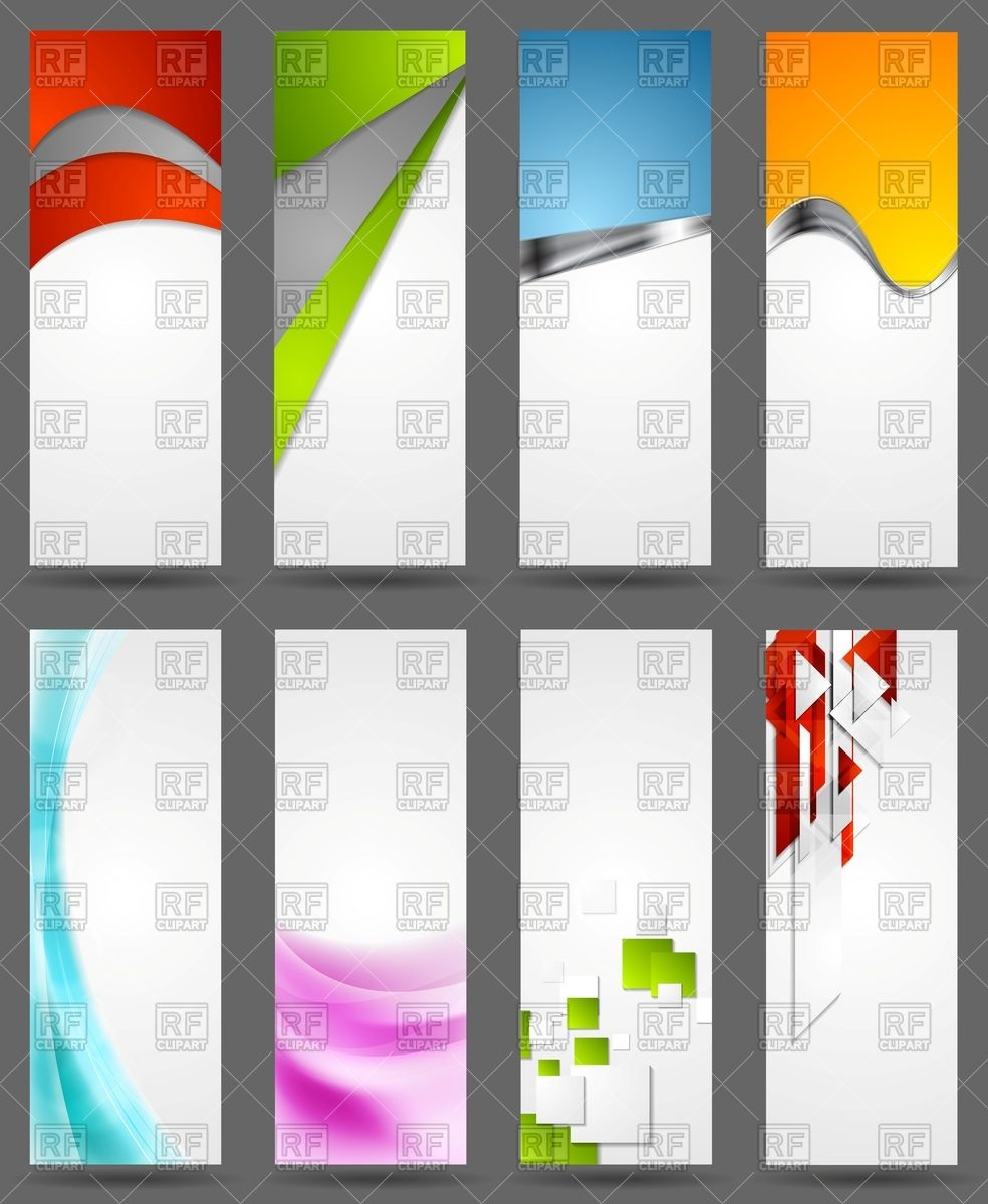984x1200 Abstract Bright Corporate Vertical Banners Vector Image Vector