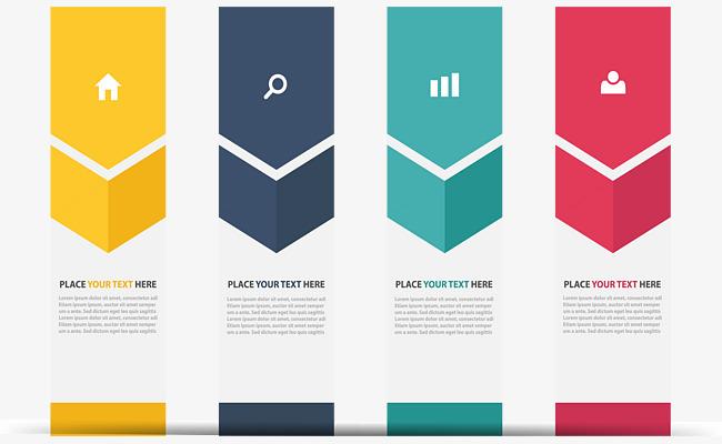 650x400 Color Vertical Banner Information Chart, Color Vector, Banner