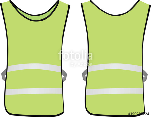 500x390 Green Safety Vest. Vector Illustration Stock Image And Royalty