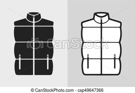 450x309 Quilted Vest. Vector Illustration Of Winter Quilted Waistcoat