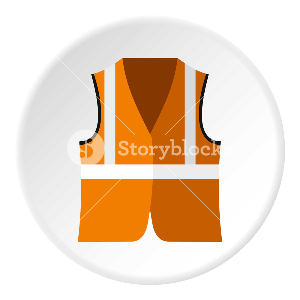1000x1000 Reflective Vest Icon. Flat Illustration Of Reflective Vest Vector