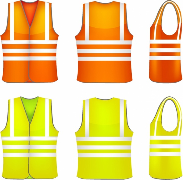 600x592 Safety Vest Free Vector In Adobe Illustrator Ai ( .ai