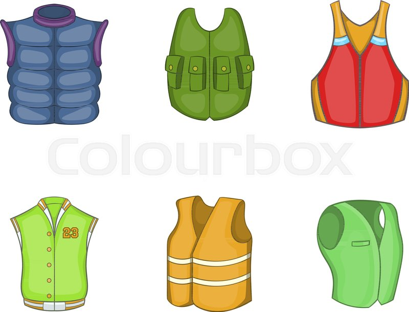 800x610 Vest Icon Set. Cartoon Set Of Vest Vector Icons For Your Web
