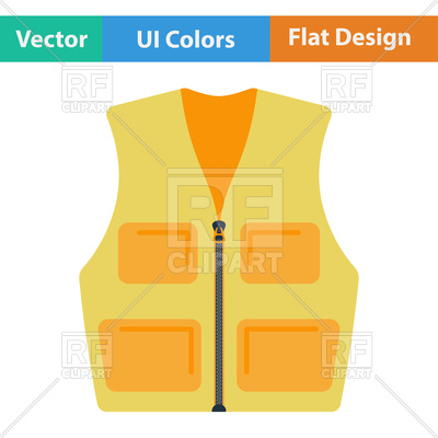400x400 Flat Design Icon Of Hunter Vest Vector Image Vector Artwork Of