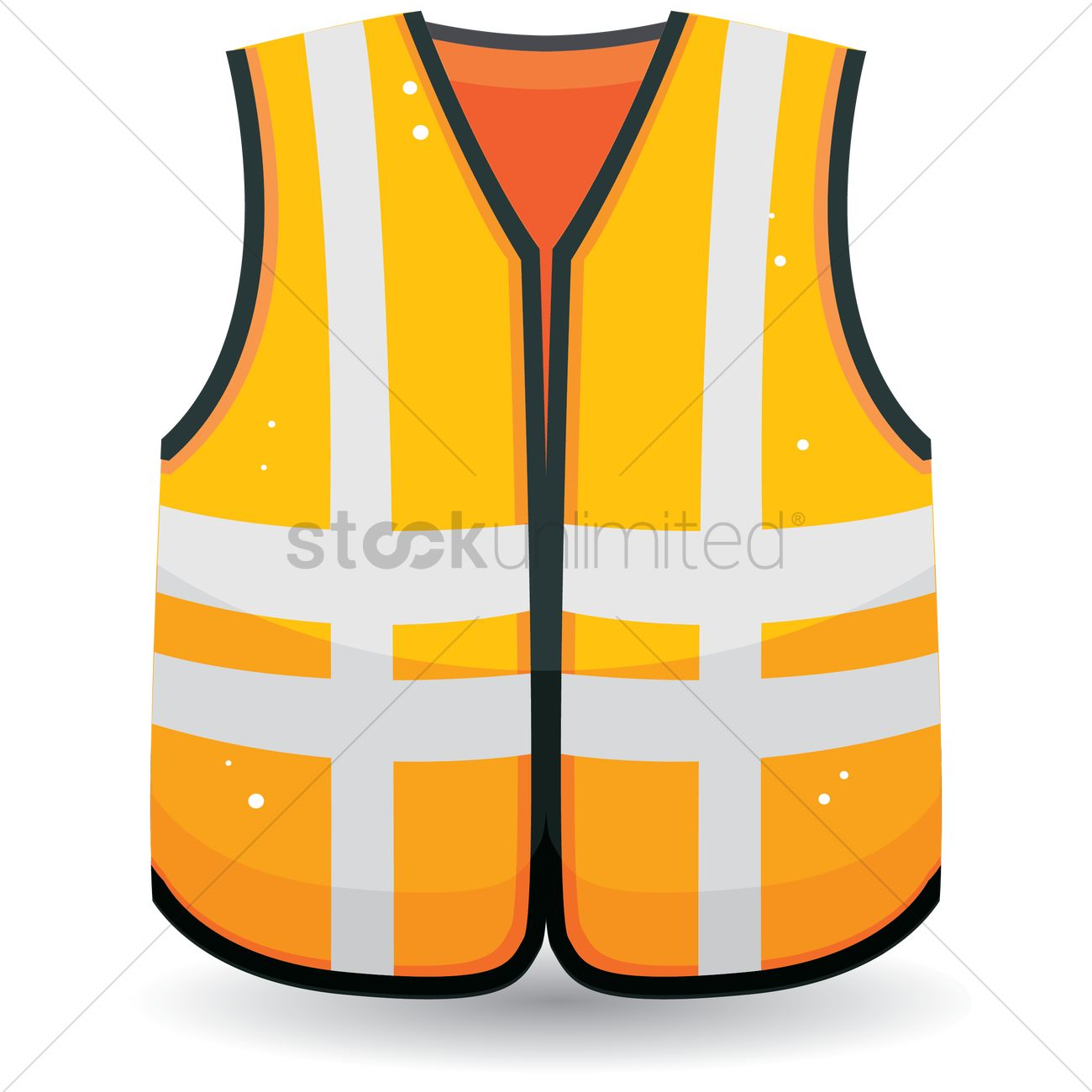 1300x1300 Free Safety Vest Vector Image