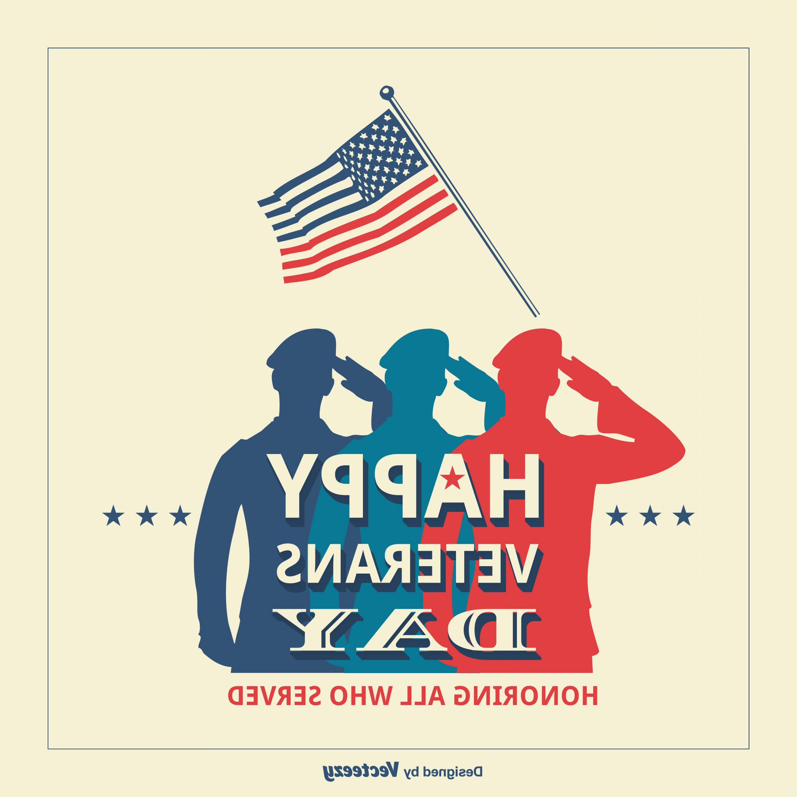 3360x3360 Usa Veterans Day Retro Vector Poster Lazttweet