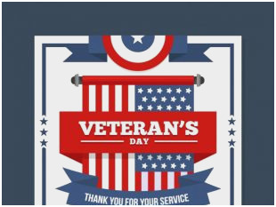 310x233 Veterans Day Certificates Fabulous Veterans Day Vector Cards Free