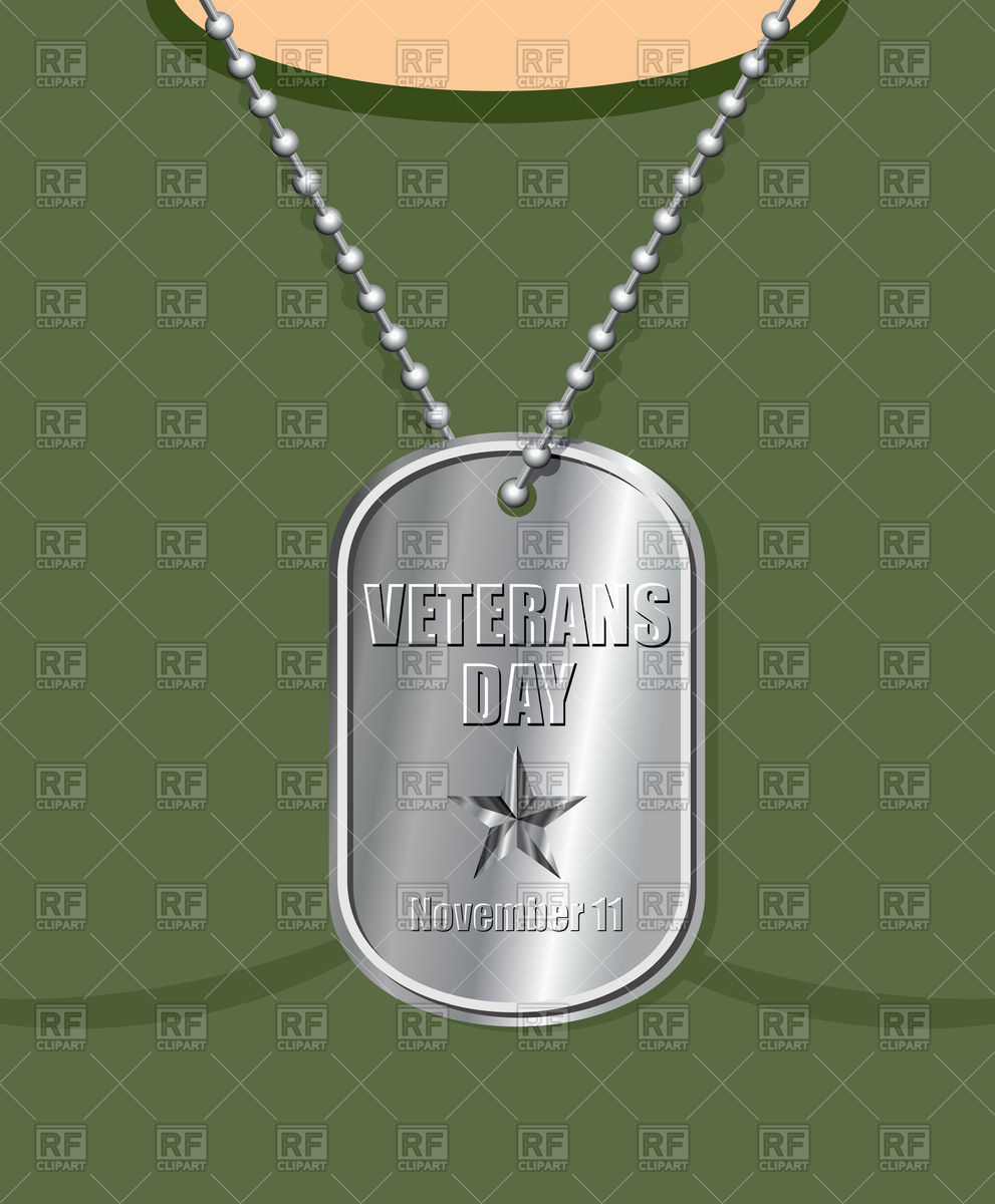 991x1200 Veterans Day. Military Medallion From Soldier In Neck. Vector