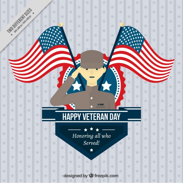 626x626 Veterans Day Background With A Proud Soldier Vector Free Download