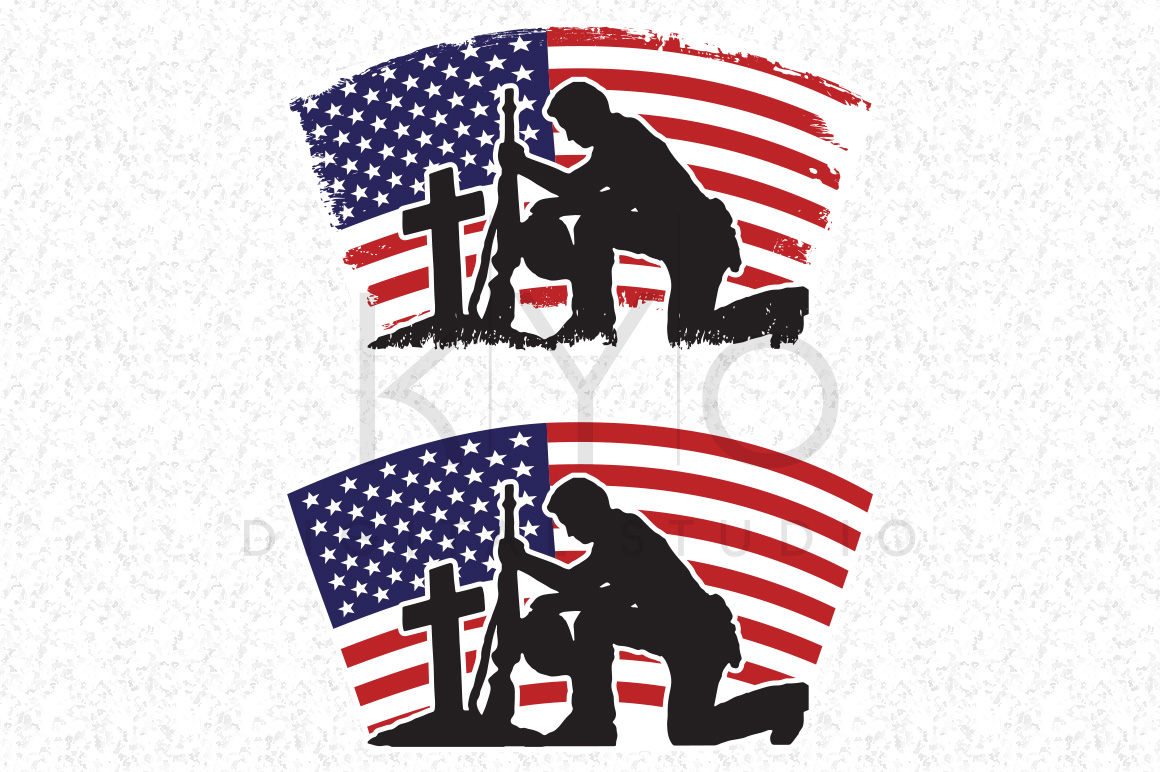 1160x772 Fallen Soldier Veterans Day Svg Dxf Png Eps Files American Flag