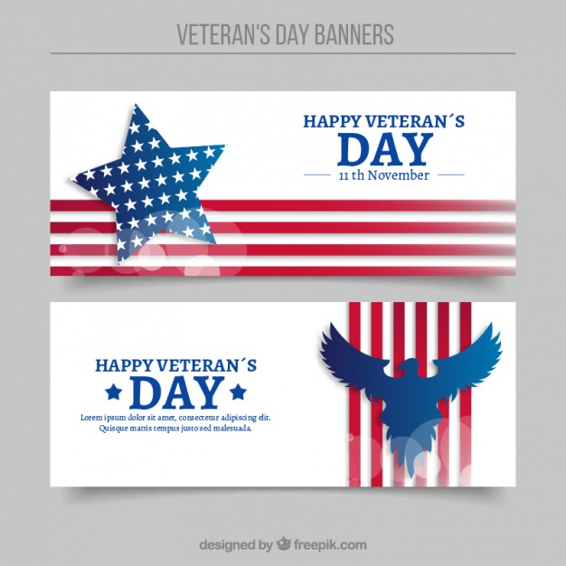626x626 Abstract Banners Of Veterans Day Vector Free Download