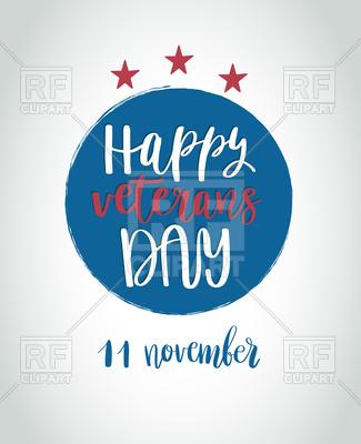 325x400 Happy Veterans Day Lettering Vector Image Vector Artwork Of