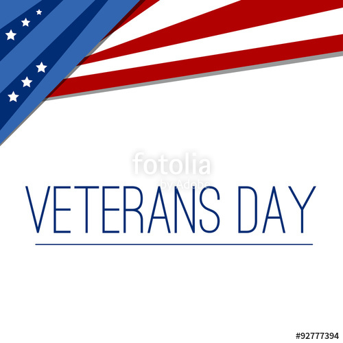 500x500 Usa Flag In Style Vector. Creative Abstract Happy Veterans Day