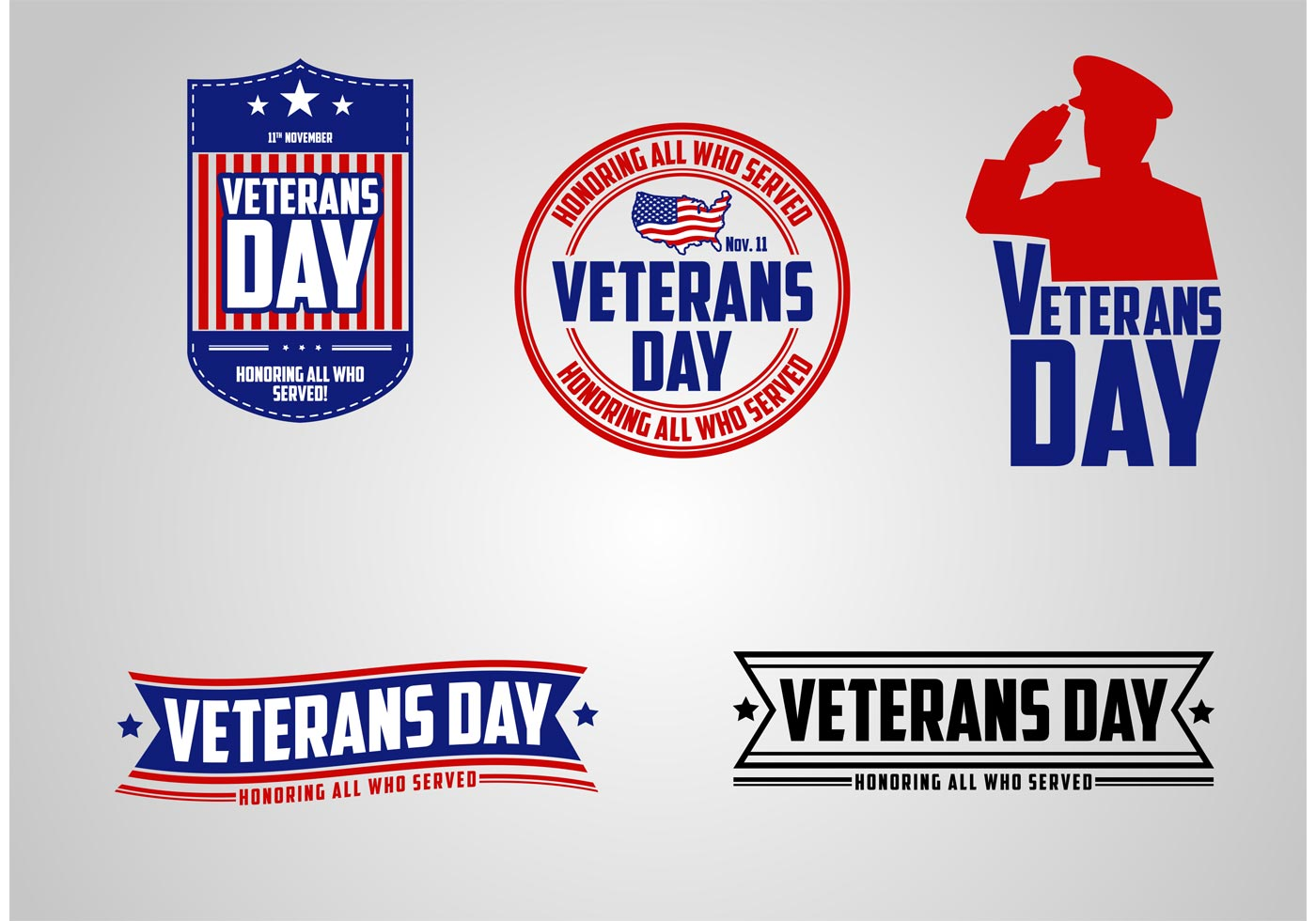 1400x980 Veterans Day Free Vector Art