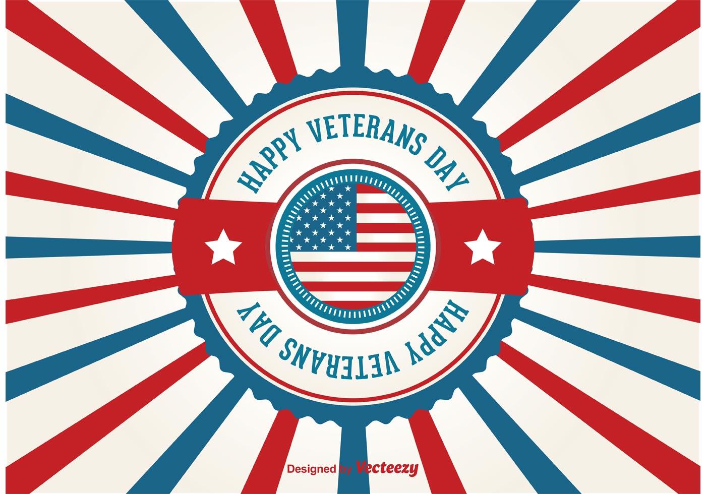 1400x980 Veterans Day Retro Poster