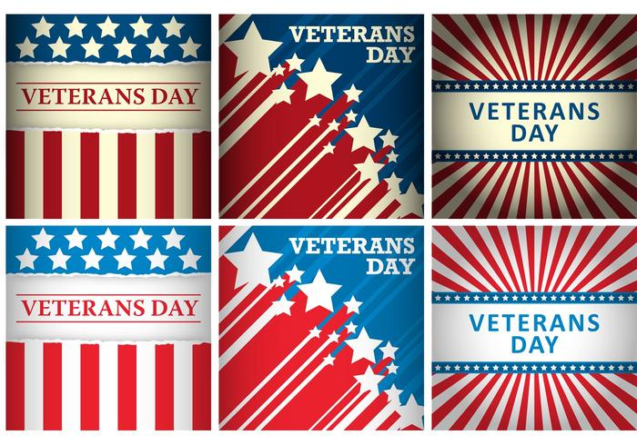 700x490 Veterans Day Vector Cards