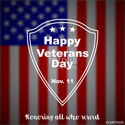 500x500 Veterans Day Vector Background. Stock Image And Royalty Free