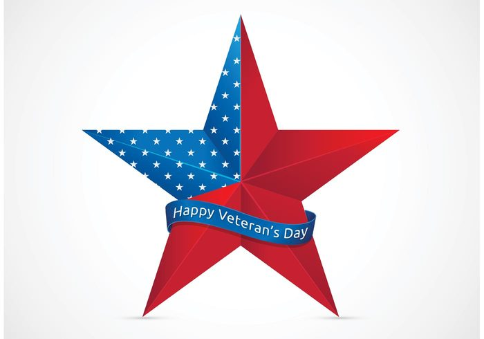 700x490 Free Happy Veterans Day With Usa Star Vector Free Vectors Ui