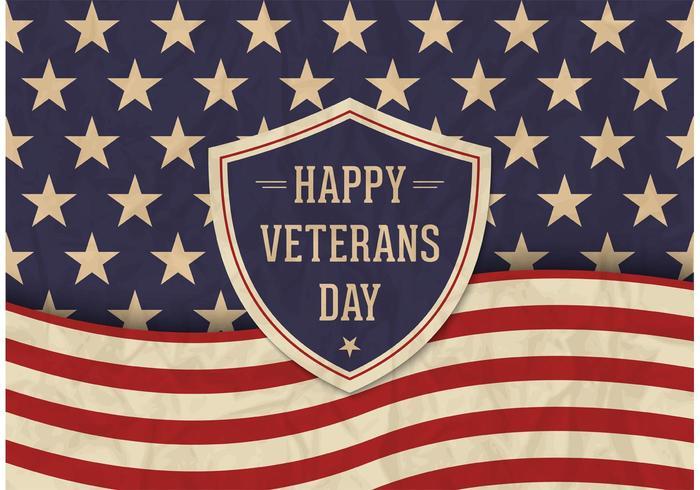 700x490 Free Veterans Day Vector Retro Poster