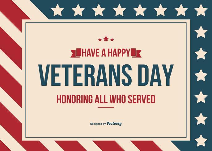 686x490 Happy Veterans Day Vector Background