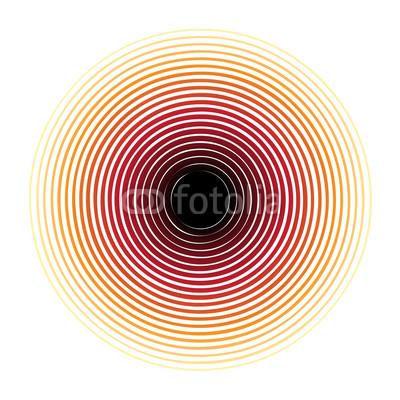 400x400 Red Halftone Circle Pattern Useful As Abstract Sound Vibration