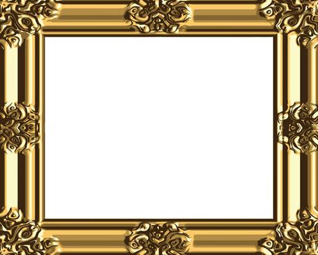 458x368 Gold Vintage Frame Victorian Banner Free Vector Download (19,614