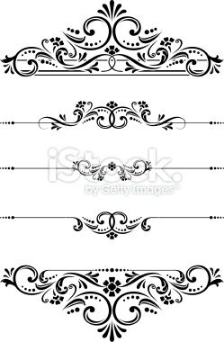 249x380 Ornate Victorian Vectored Cut Glass Designs And Ruleline Vector