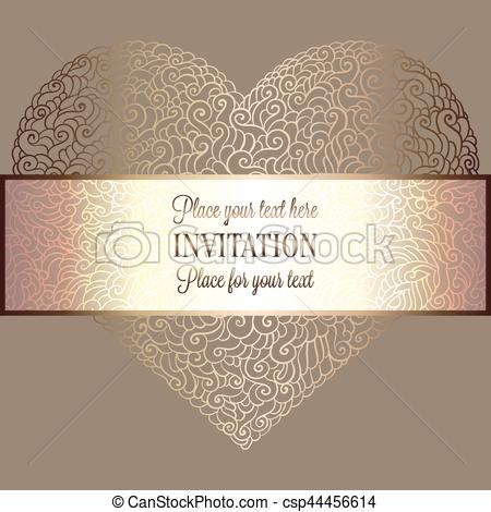 450x470 Romantic Background With Antique, Luxury Beige And Gold Vintage