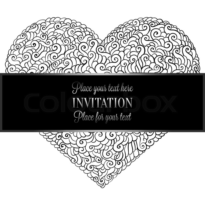 800x800 Romantic Background With Antique, Luxury Black And Metal Silver