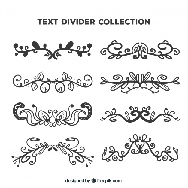 626x626 Collection Of Hand Drawn Victorian Border Vector Free Download