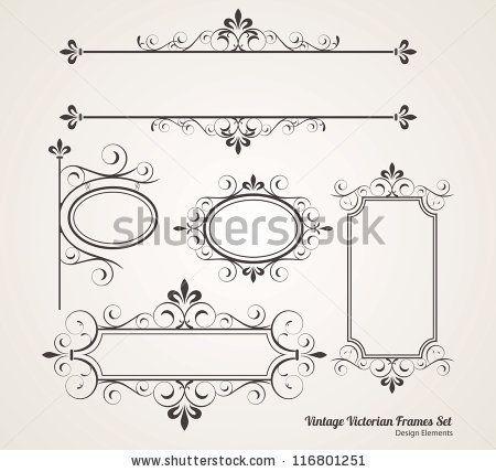450x428 Victorian Border Vector Vintage Victorian Frame Set Fonts
