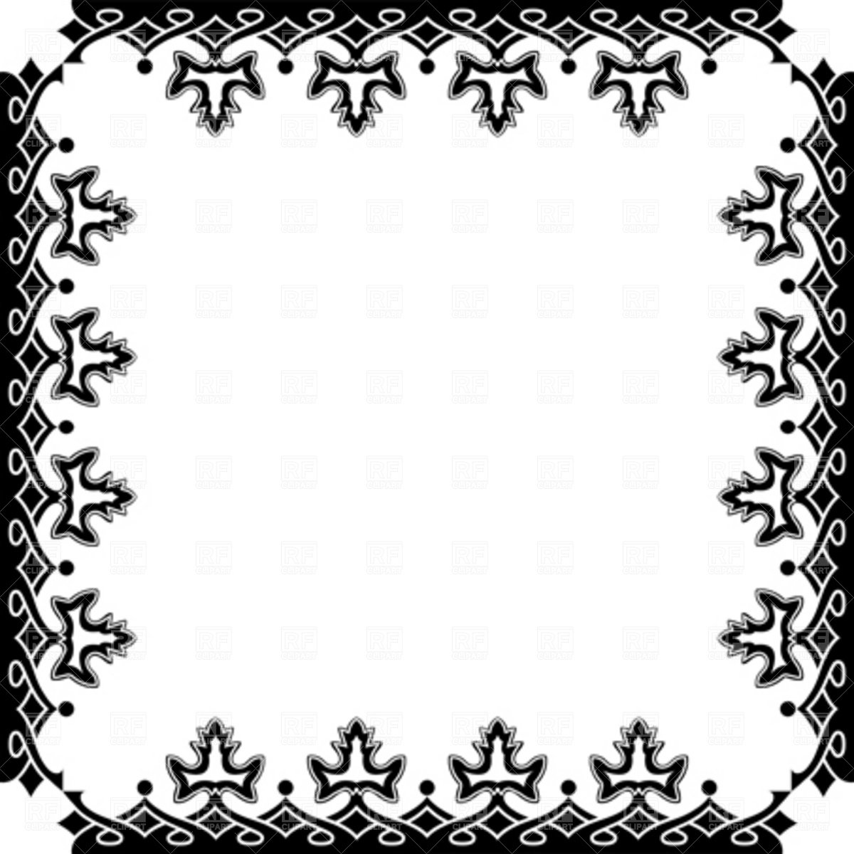 1200x1200 Victorian Frame Vector Image Vector Artwork Of Borders And