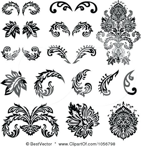 450x469 Victorian Design Elements Calligraphic Design Elements Victorian