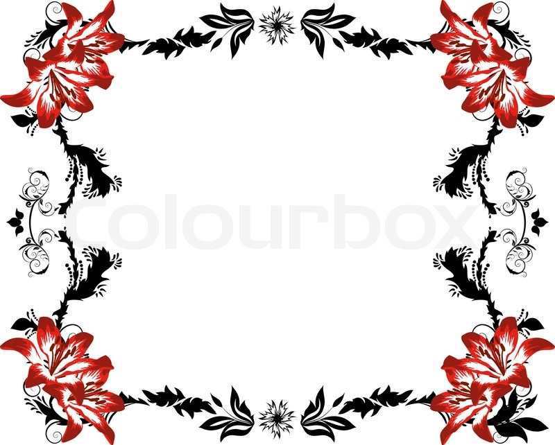 800x642 Abstract Floral Vector Frame Backgrounds In Victorian Style