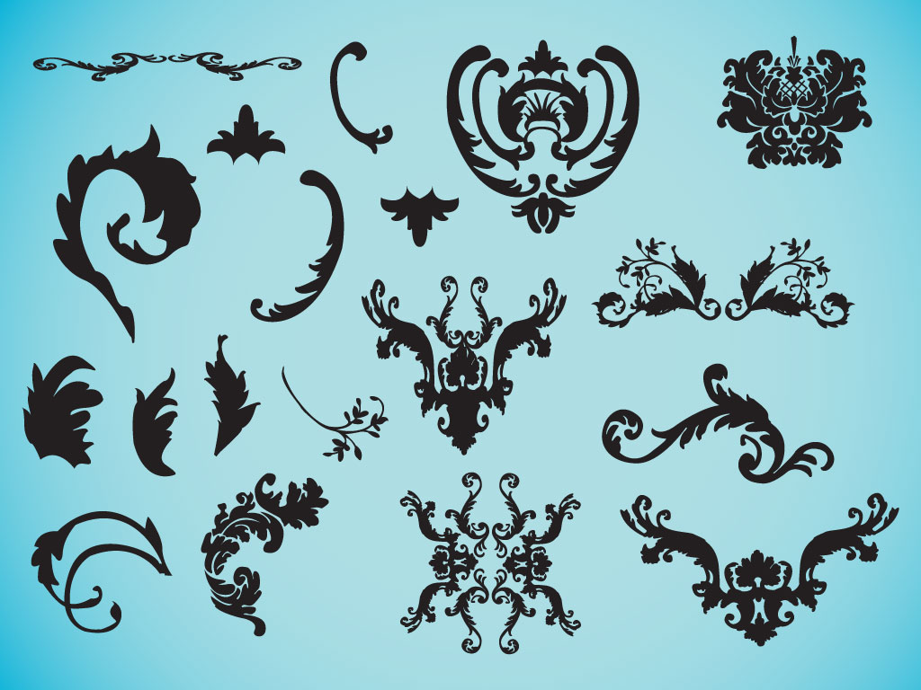 1024x768 Decorative Victorian Vectors