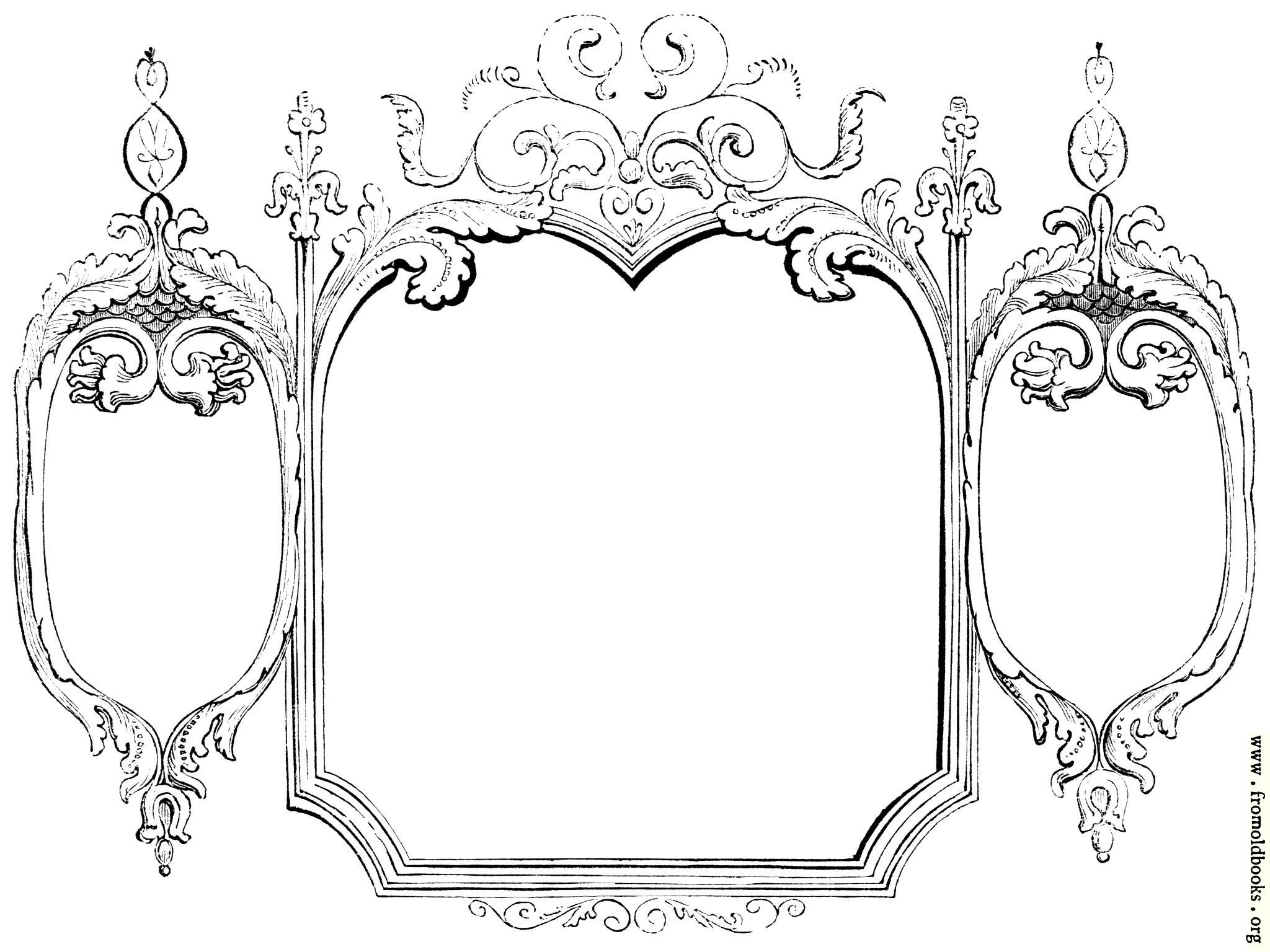 2048x1536 Amazing Victorian Frame Border Vector Vintage Baroque Victorian