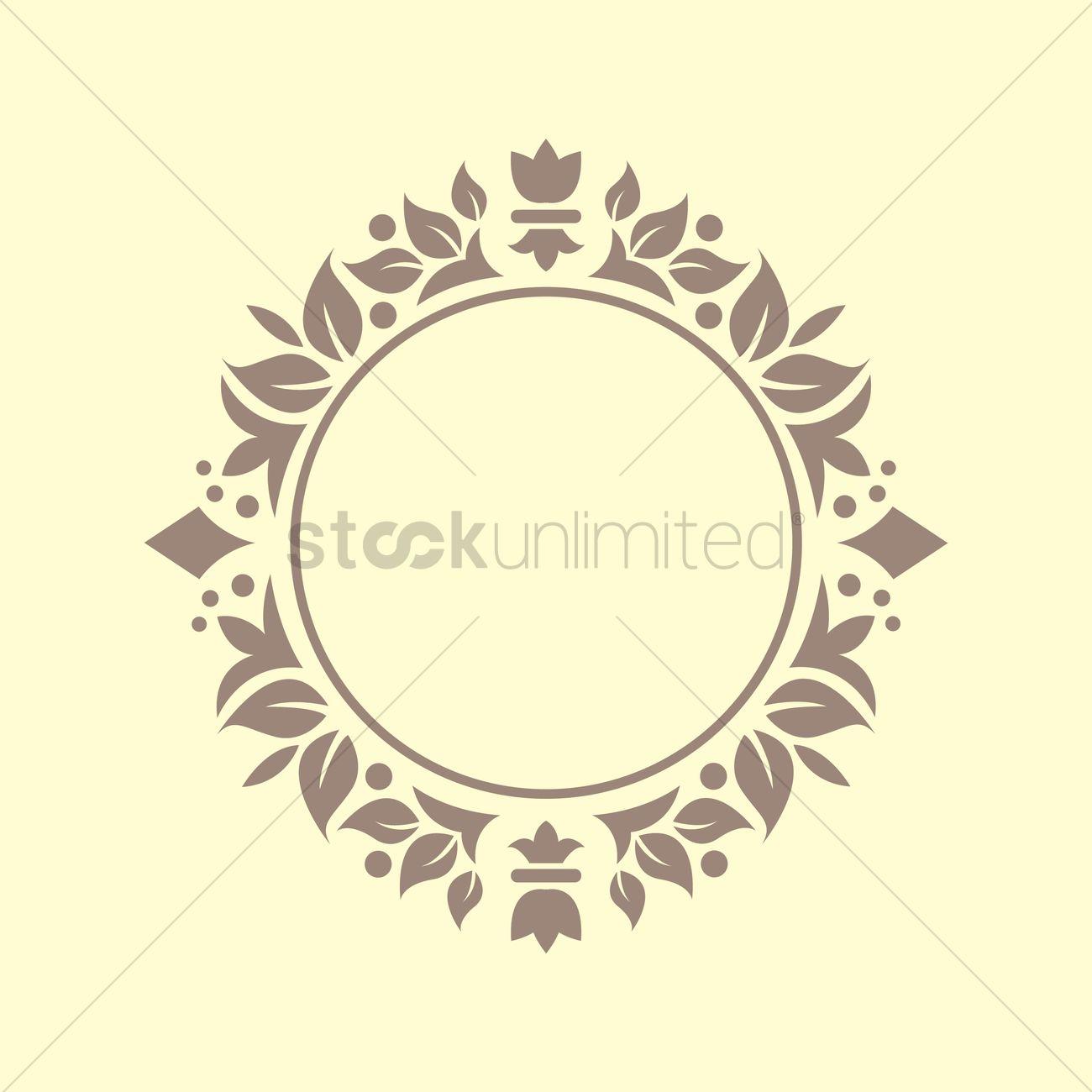 1300x1300 Floral Victorian Frame Vector Image