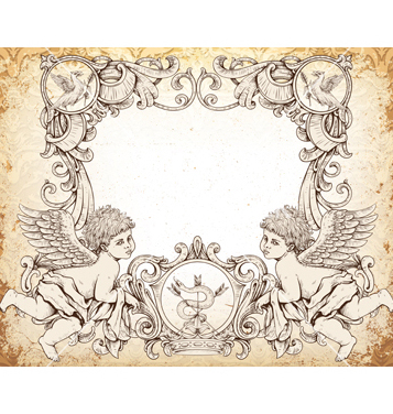 357x376 Free Victorian Frame With Angels Vector Free Vector Download