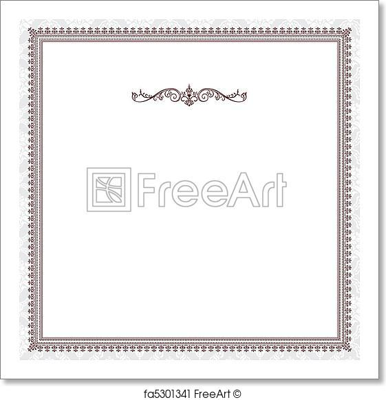 561x581 Free Art Print Of Vector Red Victorian Frame. Vector Ornate Frame