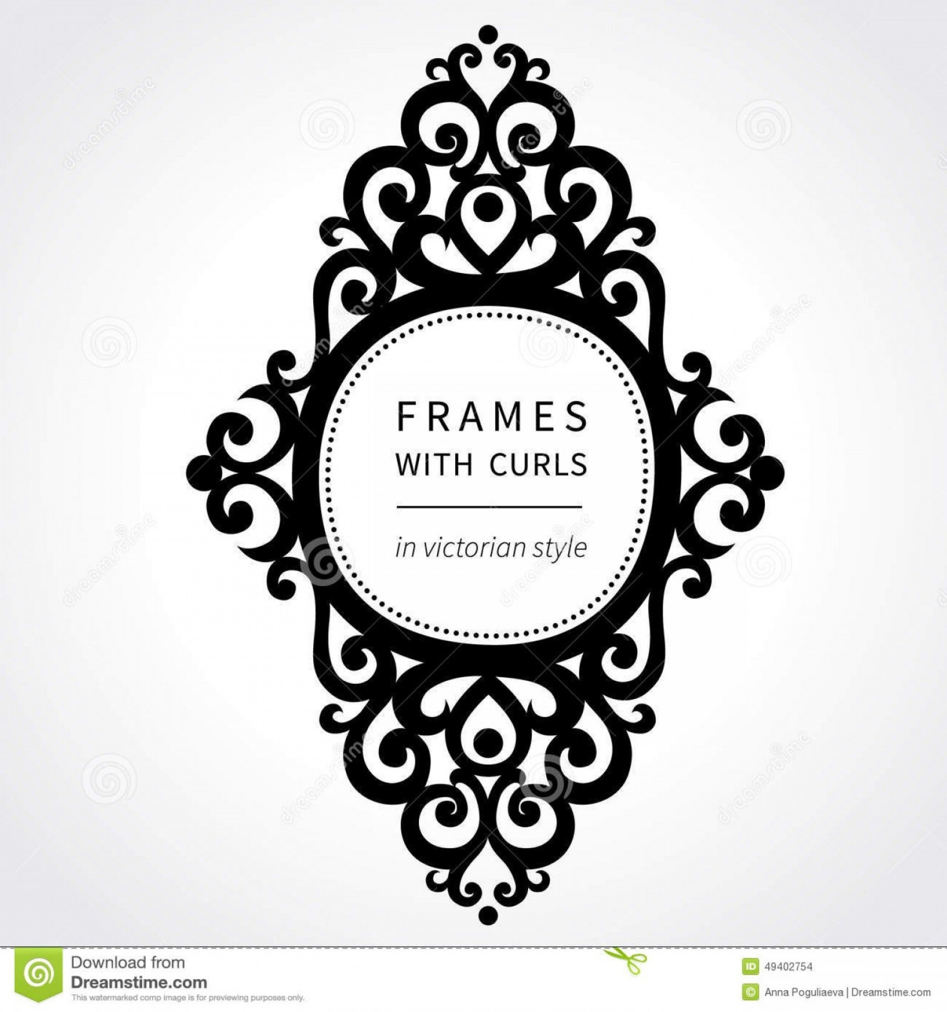 1872x2001 Irresistible Stock Illustration Vector Frame Classical Ornament